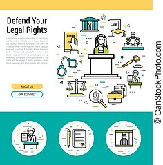 Header template - legal issues - Vector header template of...