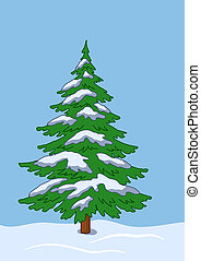 Fur-tree under the snow in snowdrift(117).jpg - Green...