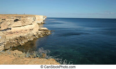 Black Sea coast - Tarkhankut, Black Sea, Crimea, Ukraine