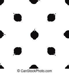 Quince fruit pattern seamless black - Quince fruit pattern...