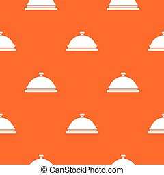 Restaurant cloche pattern seamless - Restaurant cloche...