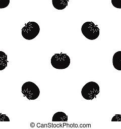 Tomato pattern seamless black - Tomato pattern repeat...