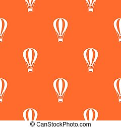 Hot air balloon pattern seamless