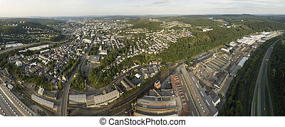 Panorama of Siegen, Germany - Panoramic view over the city...
