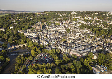 Town Wetzlar, Hesse, Germany - Aerial view over the old town...