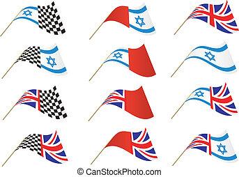 Union Jack and Israel Flag