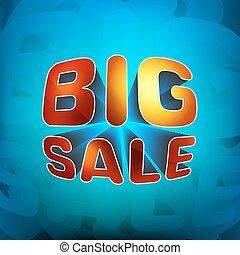 Zoom shine text Big Sale. EPS 8
