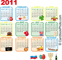 2011 Calendar of monthly events - Calendar of monthly events...