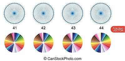 Fraction for education on white background vector - Fraction...