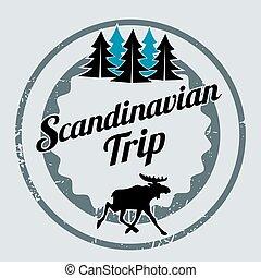 Scandinavian trip label