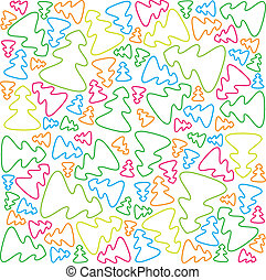 christmas-tree-pattern - illustration is a jointless pattern...