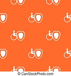 Wheelchair and safety shield pattern seamless - Wheelchair...