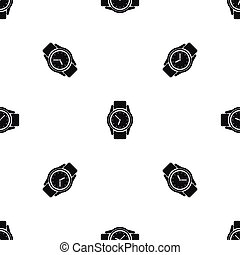 Watch pattern seamless black - Watch pattern repeat seamless...