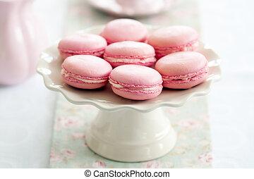 Macarons - Parisian macarons on a cakestand