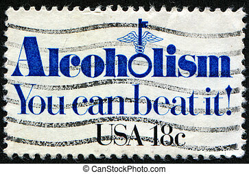 Alcoholism You can beat it - UNITED STATES - CIRCA 1981: A...