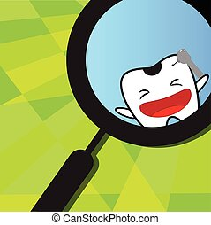 Tooth vector background. Dental health and oral hygiene.