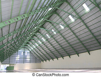 Interior of sugar storage room - Large modern new industrial...