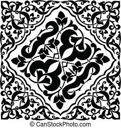 Arabesque Tile - Arabesque swatch pattern. Each color can be...