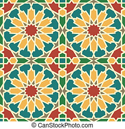 Islamic Star Tile - Islamic Tile Seamless Pattern