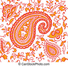 Indian Textile Pattern - Indian Seamless Textile Pattern...