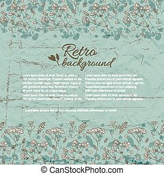 Retro Flourish Background - Retro flourish background in...