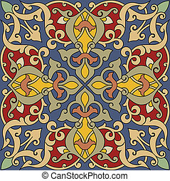Arabesque Tile Pattern Colors are easily editable