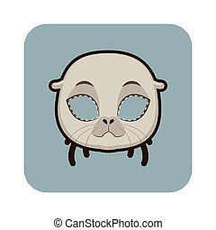 Seal mask for various festivities, parties, activities