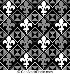 Fleur De Lis Pattern - Seamless Fleur De Lis background...