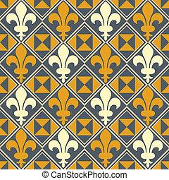 Fleur De Lis Pattern - Seamless Fleur De Lis background....