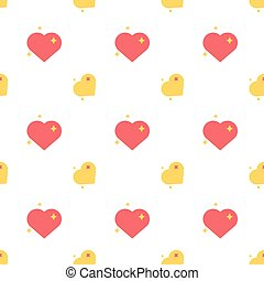 Hearts Of Love Spark Seamless Pattern