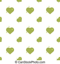 Hearts Of Love Eco Seamless Pattern