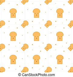 Seamless Toast Bread For Breakfast Pattern