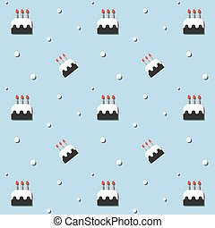 Seamless Birthday Party Cake Pattern