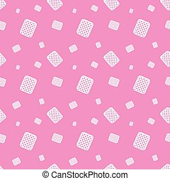 Cookie Sweet Food Silhouette Seamless Pattern Background