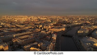 The roofs of St. Petersburg Aerial drone - The roofs of St....