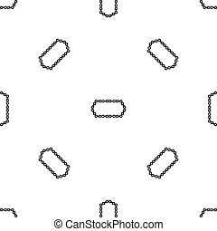 Bicycle chain pattern seamless black - Bicycle chain pattern...