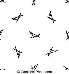 Beach chaise pattern seamless black - Beach chaise pattern...