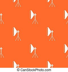 Studio lighting equipment pattern seamless - Studio lighting...
