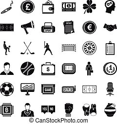 Totalizator icons set, simple style - Totalizator icons set....