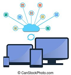 modern cloud services and Cloud Computing Elements Concept....