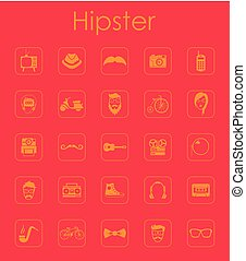 Set of hipster simple icons - It is a set of hipster simple...