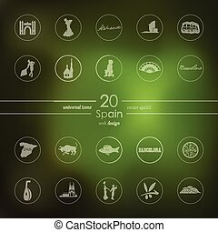 Set of Spain icons - Spain modern icons for mobile interface...