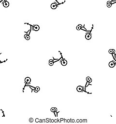 Tricycle pattern seamless black - Tricycle pattern repeat...