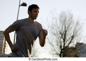 jogging running man