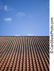 Tile roof - Worn tile roof