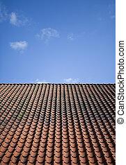 Tile roof - Worn tile roof