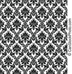 Vintage Wallpaper - Seamless wallpaper pattern. Colors are...