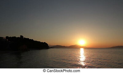 Silhouetted shot of beautiful sunset - Scenic view of...