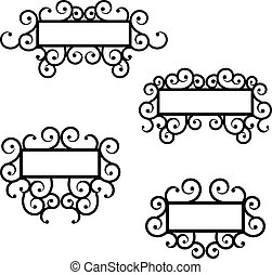 Iron frames - vector frame elements