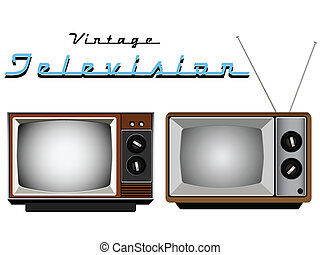 Vintage Television Sets - Vector old TV Sets
